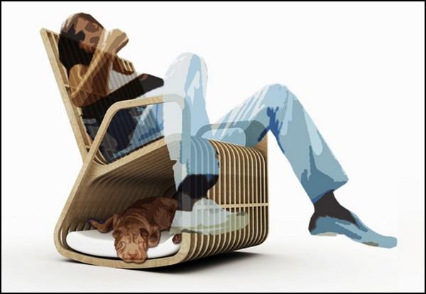 Кресло Rocking-2-gether, мебель для человека и его питомца