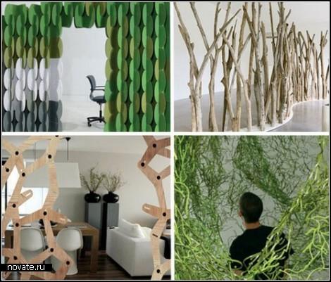 Дизайнерские перегородки для комнат. Обзор