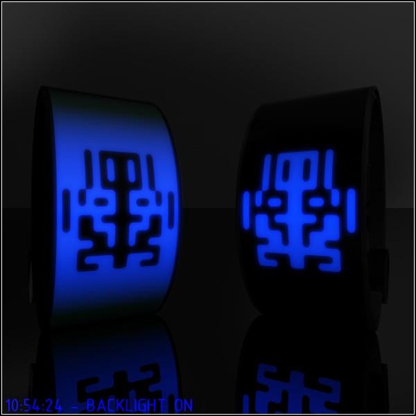 Rorschach watch, часы с цифрами в виде абстрактных пятен