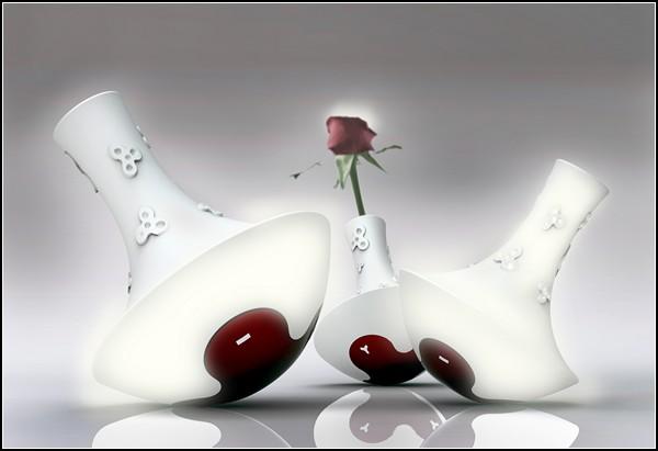 Концептуальная лампа-ваза Rosight с ароматом цветов