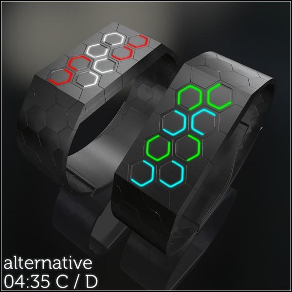 Часы Hexagons LED watch для тех, кто не ищет простых решений