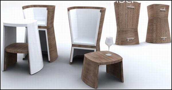 SandClock Chair. Кресло-перевертыш для работы и отдыха