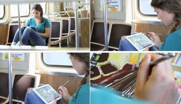 Sensu Brush, электронная кисть для рисования на планшетах вроде iPad