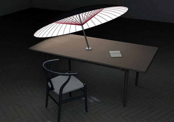 Day Shade Night Light, концептуальный светильник, который защитит от солнца днем и от тени вечером