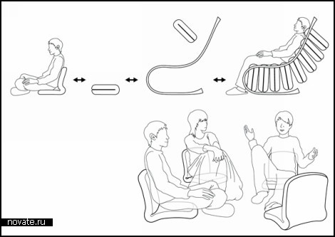 Проект Shair - кресло из пуфиков