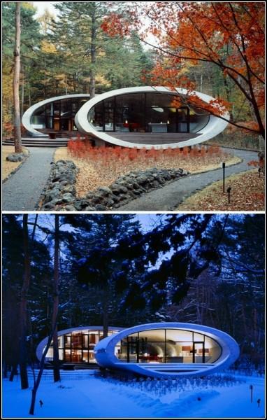 Дом-ракушка Shell residence от Kotaro Ide