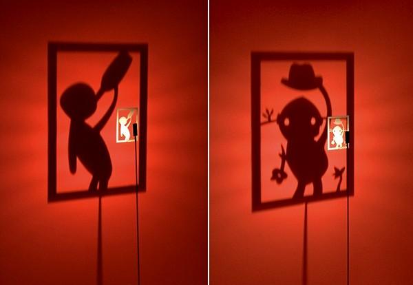 Светильник Shining Image, оставляющий тени-картинки на стене