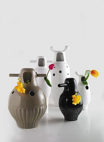 Showtime Vases, креативные фарфоровые вазы в виде инопланетных гостей