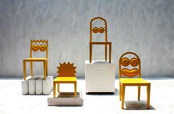 Семейство необычных стульев Simpsons Chair Set