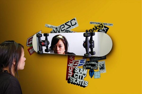 Skateboard Mirror, ��������, �����, ������������ ������� � ���� ����������