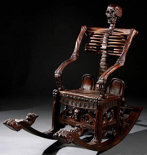 На коленках у скелета. Кресло-качалка Skeleton Rocking Chair