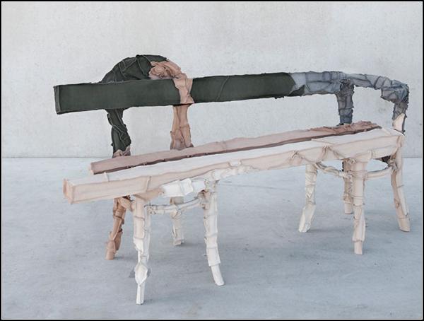 Skin Collection, мебель из кусочков кожи
