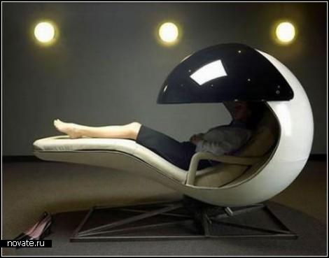 Дизайнерские лежанки-*коконы* для отдыха на работе и дома