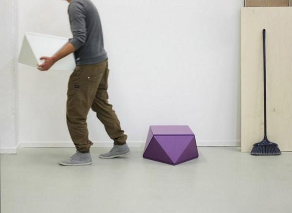 Slide + Slide: модульная мебель из угловатых ящиков