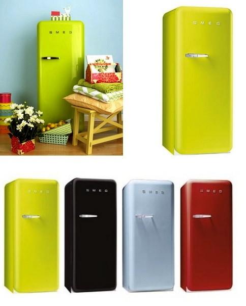 Яркие ретро-холодильники и морозилки от Smeg