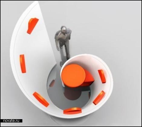 Мини-кабинет Snail Shell Armchair от Yahui Gu