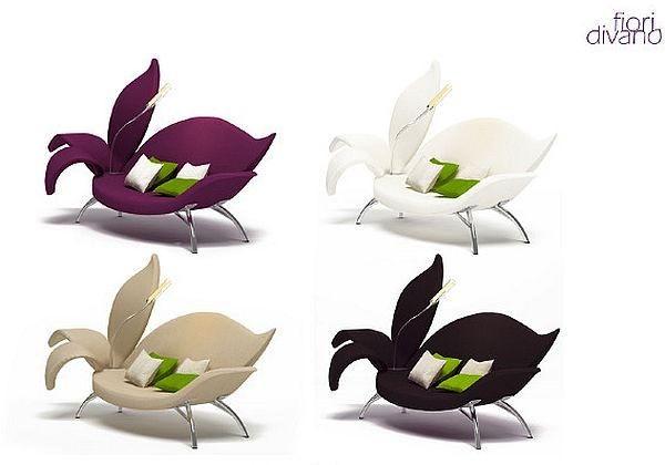 Необычный диван Fiori Divano в виде цветка