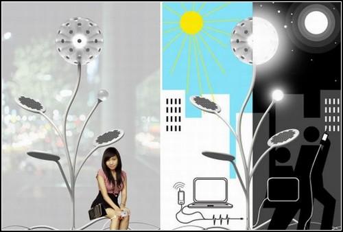 Фонарь-*подсолнух* Solar Energy Lamp