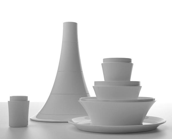Пирамидки из посуды Plus Minus: потолще и потоньше
