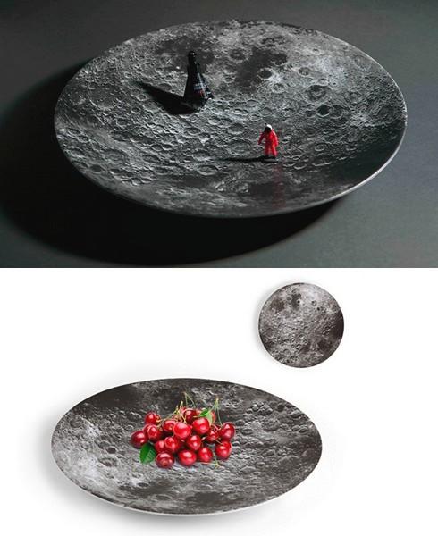 The Moon. Тарелка из серии космической посуды Space Bowls