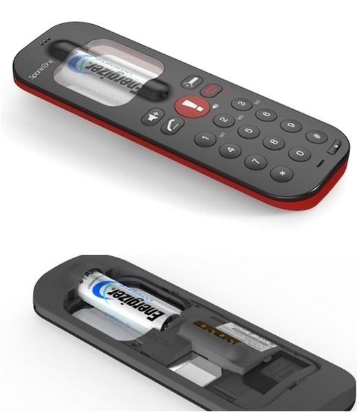 SpareOne Phone, телефон, который работает от АА-батарейки