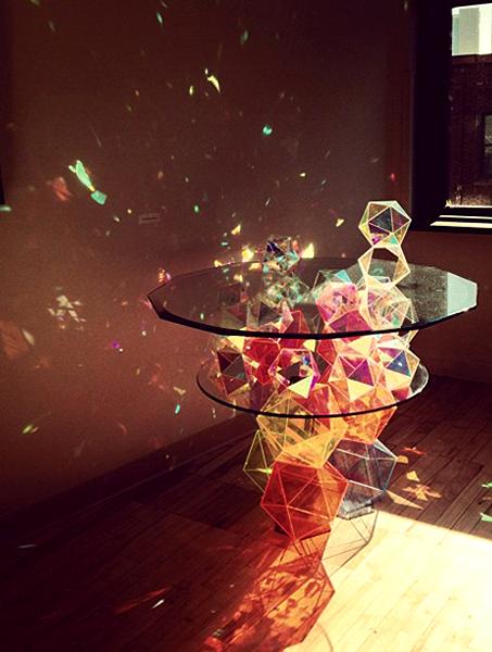 Стеклянный стол Sparkle Geometric Table от John Foster