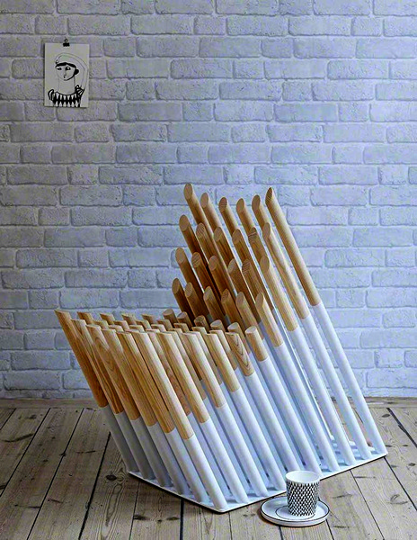 Spike Chair. Стул из *шипов* от Александра Лервика