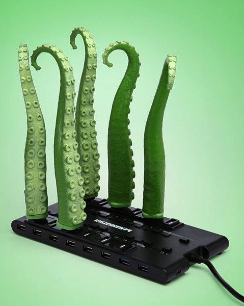 Squirming Tentacle, гаджет-игрушка для свободного USB-порта
