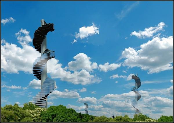Stairscraper, дом-лестница выше облаков