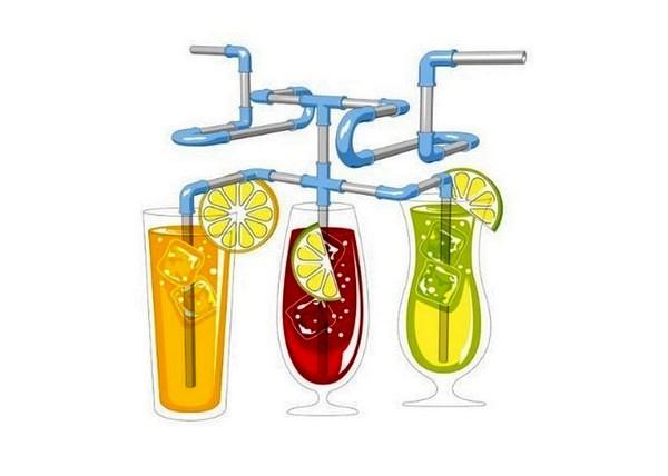 Strawz: конструктор-*трубопровод* для веселого распития напитков