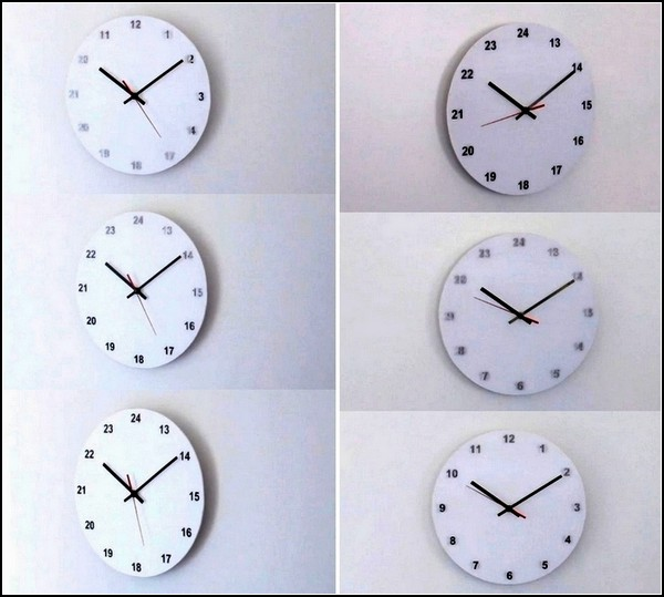 Настенные AM/PM Wall Clock от Studio Dreimann