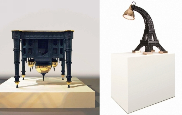 Tour Eiffel Lamp и Taj Mahal Table от Studio Job