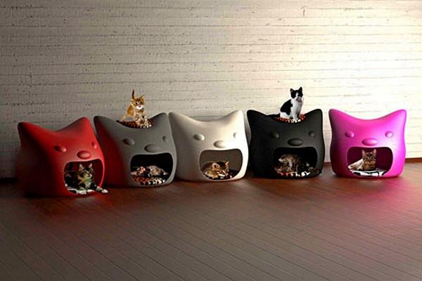 Kitty Meow, разноцветные домики для кошек от Studio Mango