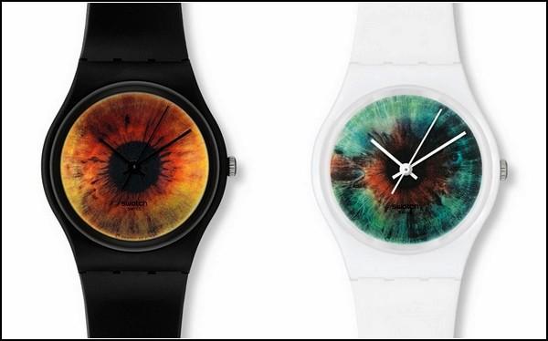 *Глазастые* часы из серии Swatch & Art Watches