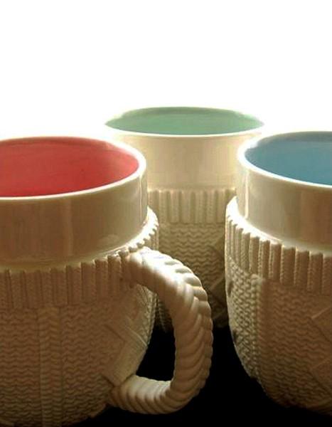Sweater Mug, кружка в свитере из фарфора