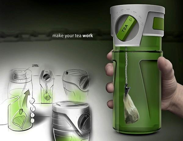 TEA Thermos, концептуальный термос для заваривания идеального чая