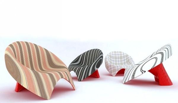 Современный стул в галстуке. TIE Lounge Chair от Velichko Velikov