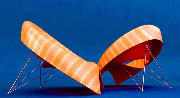 Модная мебель в рубашках и галстуках. Серия TIE Lounge Chair от Velichko Velikov