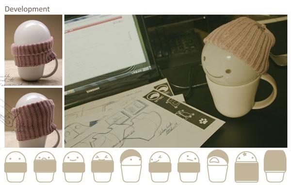 T Light, лампа в чашке от Lucy Jung