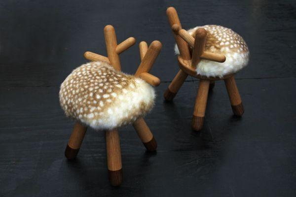 Bambi, стул с рожками и ножками от Takeshi Sawada