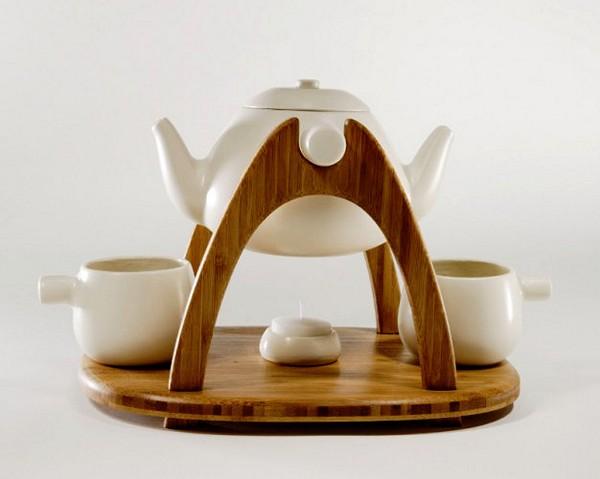 Оригинальный романтический сервиз для чая вдвоем. Дизайн-проект Марка Хуанга (Mark Huang) Tea for Two