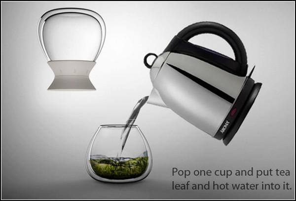 Две чашки и таймер: оригинальный заварник Tea-time tea steeper