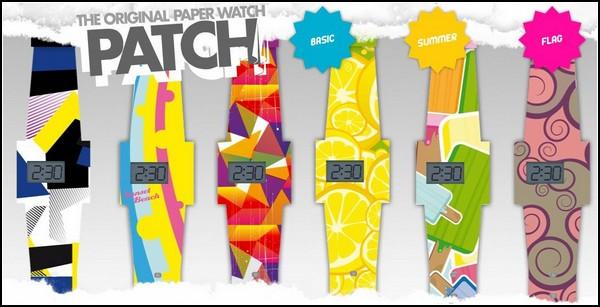 Разноцветные одноразовые часы The Patch из бумаги