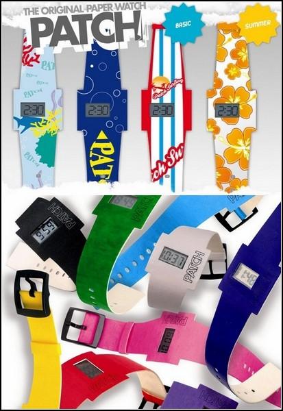 Разноцветные одноразовые часы The Patch из бумаги 66008c7d068