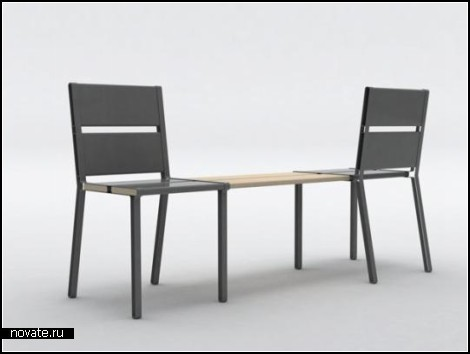 Стулья-скамейка To Share от Aїssa Logerot
