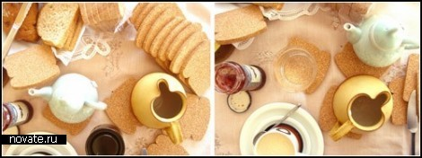 Пробковые подставки-тостики Toast It