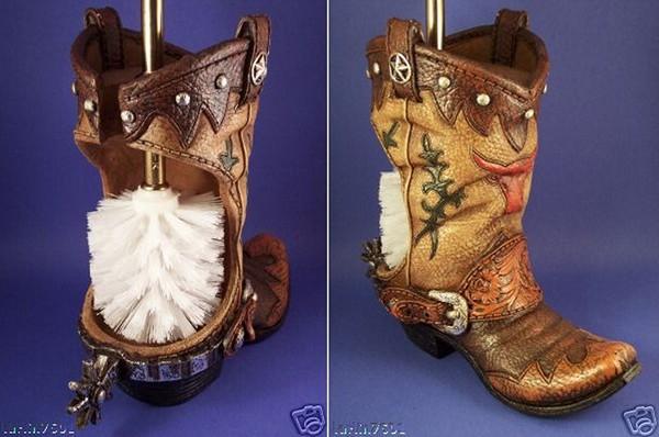 Ершик для унитаза в ковбойских сапогах