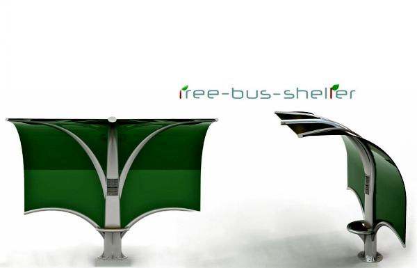 Концептуальная остановка Мodern Tree Bus Shelter