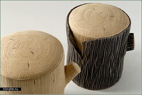 Tree stools вместо деревянных табуретов