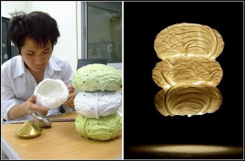 Капустный светильник Triple Cabbage